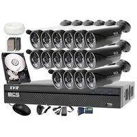 Zestawy monitoringowe, Zestaw do monitoringu z podglądem nocnym: Rejestrator BCS-XVR1601 + 16x BCS-TQE3500IR3-G + Dysk 1TB + Akcesoria