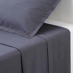 Bawełniane prześcieradło - kolor ciemnoszary, 240 x 290 cm