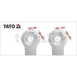 Klucz oczkowy odgięty z polerowaną główką 16x17 mm / YT-0388 / YATO - ZYSKAJ RABAT 30 ZŁ