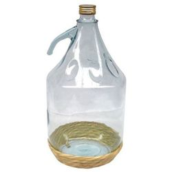 Balon do wina w koszu wiklinowym Terdens 5 l z uchwytem