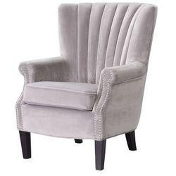 Dekoria Fotel Scarlett Velvet Light Grey 78x83x101cm, 80x83x101cm