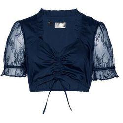 Bluzka shirtowa w kropki bonprix czarno-biały w kropki