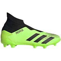 Piłka nożna, Buty piłkarskie adidas Predator 20.3 LL FG zielono-czarne EH2929