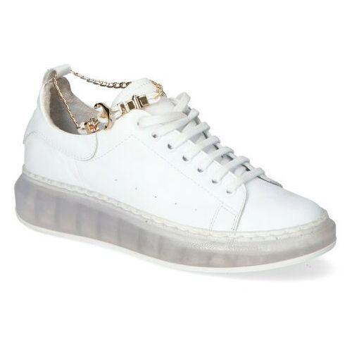 Damskie obuwie sportowe, Sneakersy Carinii B5811-L46-C24 Białe lico