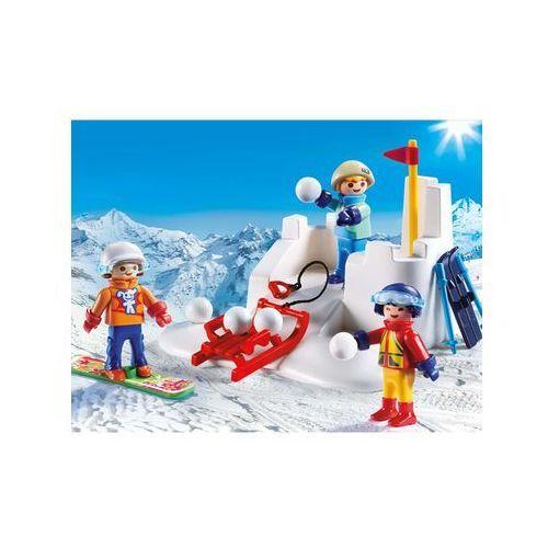 Klocki dla dzieci, Playmobil FAMILY FUN Bitwa na śnieżki 9283