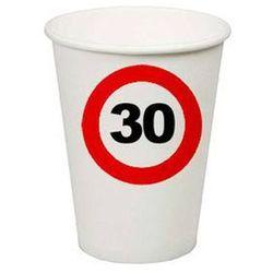Kubeczki Znak zakazu 30tka - 266 ml - 8 szt.