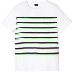"T-shirt z dekoltem ""wodą"" bonprix biały"