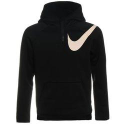 Nike Performance PLUSH Bluza z kapturem black/white