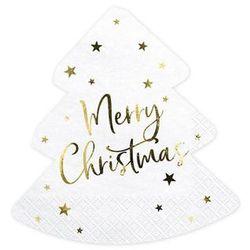 Serwetki bożonarodzeniowe Choinka - Merry Christmas - 32,5 cm - 20 szt.