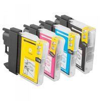 Tusze do drukarek, Komplet tuszy do Brother DCP-J315W J515W MFC-J415W TD-LC985 CMYK