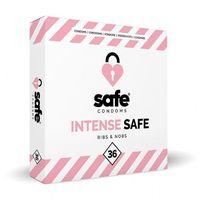 Prezerwatywy, Prezerwatywy stymulujące - Safe Intense Safe Condoms Rib-Nop 36szt