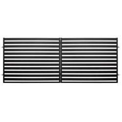 Brama dwuskrzydłowa Polbram Steel Group Lara 2 400 x 154 cm czarna