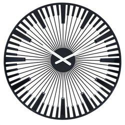 Zegar ścienny Piano czarny