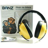 Pozostałe bezpieczeństwo w domu, Słuchawki ochronne nauszniki dzieci 0-3lat BANZ - Yellow
