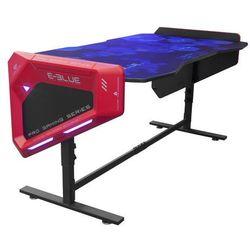 E-Blue Biurko dla gracza 165x88,5x64 cm, podświetlenie RGB, regulacja wysokości, z podkładką pod mysz