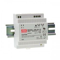 Zasilacz impulsowy na szynę DIN DR 30-12 Moc: 24W; I max: 2A; Uwy: 12V, 10,8-13,2V DC; Uwe 85-264V AC, 120-370V DC