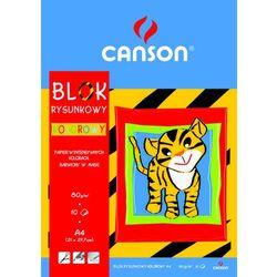 Blok rysunkowy Canson A4/10k. 80g. kolorowy