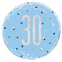 Balony, Balon foliowy niebieski - 30 - 46 cm - 1 szt.