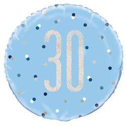 Balon foliowy niebieski - 30 - 46 cm - 1 szt.