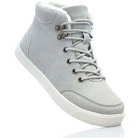 Damskie obuwie sportowe, Wysokie sneakersy bonprix jasnoszary