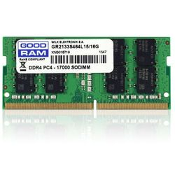 Pamięć RAM 1x 16GB GOODRAM SODIMM DDR4 2133MHz PC4-17000S | GR2133S464L15/16G