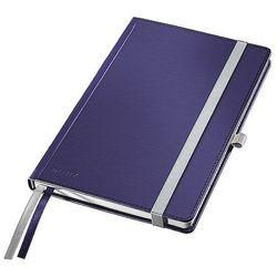 Notatnik w twardej oprawie Leitz Style A5 80 kartek kratka tytanowy błękit 44860069