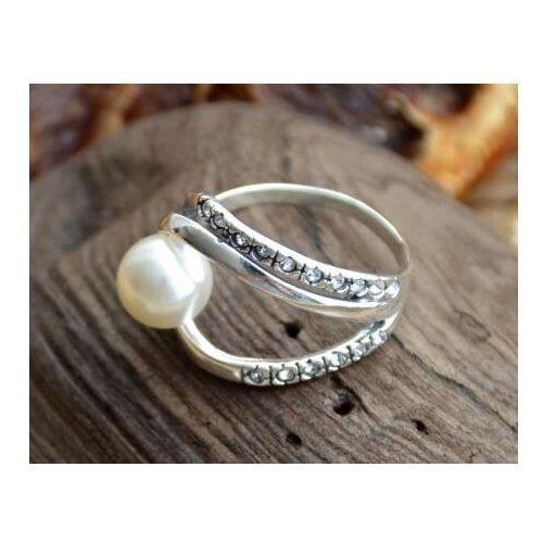 Pierścionki i obrączki, BALENA - srebrny pierścień z perłą