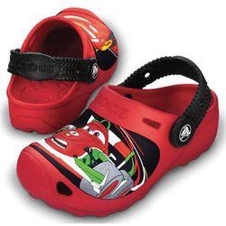 Crocs Classic Cars 2 Red/Black Czerwone-czarne klapki dla chłopca Auta Disney 21-22 C4/5