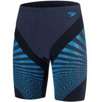 Pozostałe pływanie, Speedo kostium kąpielowy męski Chevron Splice Jammer Grey/Black/Blue 38 - BEZPŁATNY ODBIÓR: WROCŁAW!