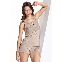 Damska bambusowa piżama CAMILLA XL Beżowy
