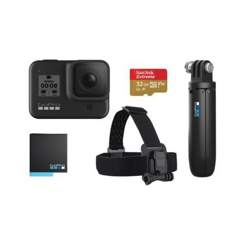 Kamery sportowe, Kamera sportowa GOPRO HERO8 Black + zestaw akcesoriów DARMOWY TRANSPORT