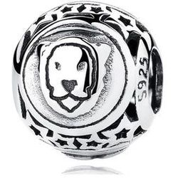 Rodowany srebrny charms do pandora znak zodiaku lew lion srebro 925 BEAD18