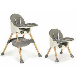 Fotelik do karmienia, krzesełko, 2w1, ecotoys, pojemnik, szare