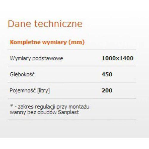 Wanny, Sanplast Ergo 100 x 140 (610-040-0840-01-000)