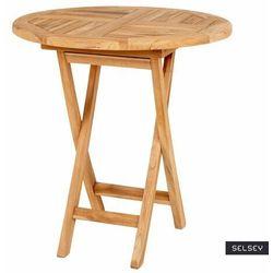 SELSEY Stół ogrodowy Anoak drewniany średnica 70 cm