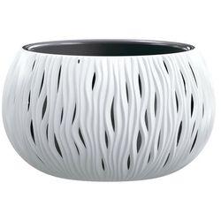 Doniczka Sandy Bowl z wkładem 37 cm biała