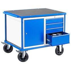 Wózek warsztatowy Mobile, jedna szafka, jedna szuflada, 1000x700 mm