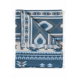 Narzuta w etniczny deseń bonprix niebieski
