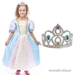 Strój Księżniczka Sukienka Korona Roszpunka dla dziecka 134-140cm