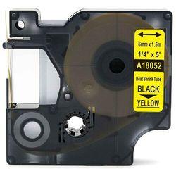 Rurka termokurczliwa DYMO Rhino 18052 6mm x 1.5m ø 1.2mm-2.3mm żółta czarny nadruk S0718270 - zamiennik | OSZCZĘDZAJ DO 80% - Z