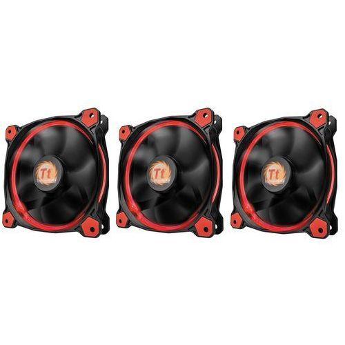 Radiatory i wentylatory, Thermaltake Wentylator Riing 12 LED, 120mm, 3 sztuki, czerwony (CL-F055-PL12RE-A) Darmowy odbiór w 21 miastach!