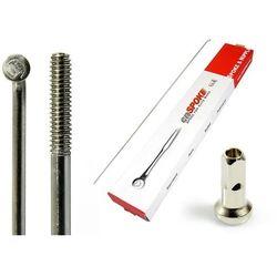 Szprychy CNSPOKE STD14 2.0-2.0-2.0 stal nierdzewna 254mm srebrne + nyple 144szt.