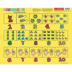 Puzzle ramkowe Cyferki dla dzieci