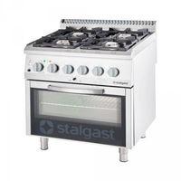 Piece i płyty grzejne gastronomiczne, kuchnia gazowa, 4-palnikowa z piekarnikiem gazowym, 24+5 kW, G20