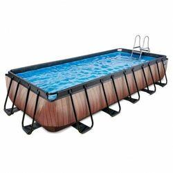Basen EXIT 540 x 250 x 100 cm /brązowe drewno/