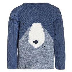 mothercare TRUE BEAR NOVELTY FACE JUMPER BABY Sweter blue