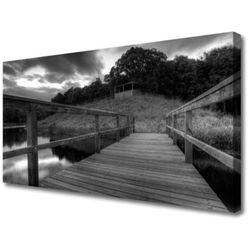 Obraz Canvas Molo Czarno-Białe Jezioro