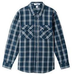 Koszula w kratę bonprix niebiesko-biel wełny w kratę