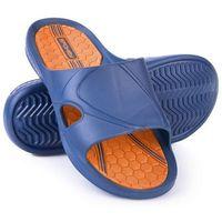 Pozostałe sporty wodne, Klapki basenowe SPOKEY Orbit Granatowo-Pomarańczowy (rozmiar 41)