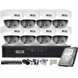 Monitoring wideo audio kasy stacji paliw sklepu BCS Point Rejestrator IP + 8x Kamera BCS-P-212RWSA + Akcesoria
